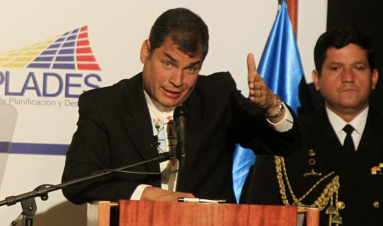Rafael Correa, el pasado día 4 en Quito.
