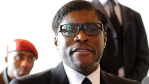 Teodoro Obiang hijo, en Bata el pasado enero.