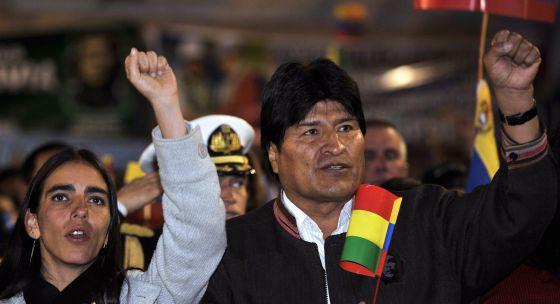 Evo Morales durante un acto de apoyo a Hugo Chávez el 24 de julio.