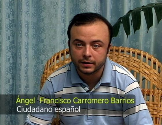 Captura del vídeo en el que Carromero dio su versión del accidente.