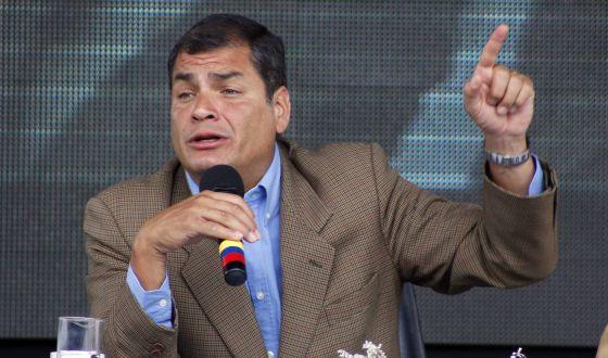 El presidente Correa este sábado en su alocución semanal.rn