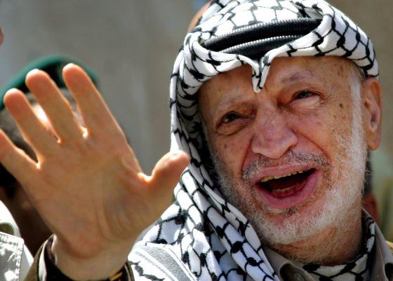 Yasir Arafat, presidente de la Autoridad Palestina.
