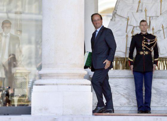 El presidente de Francia, François Hollande, en el Elíseo.