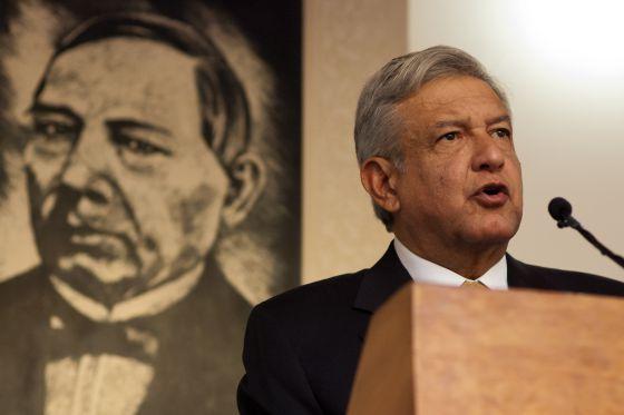 Imagen de la rueda de prensa de López Obrador.