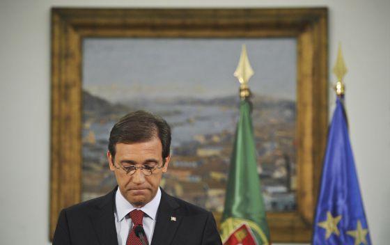 El primer ministro portugués, Pedro Passos Coelho, durante su discurso para anunciar nuevas medidas de austeridad.