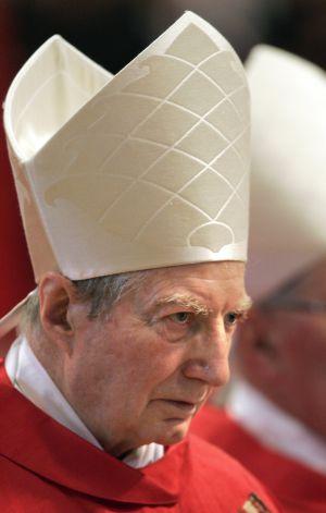 El cardenal Carlo Maria Martini, en abril de 2005.