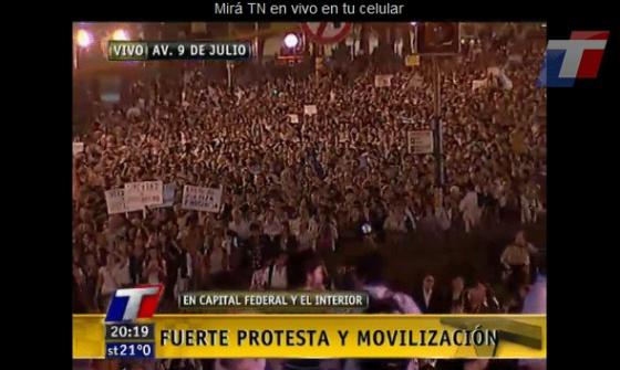 Protestas en Buenos Aires.