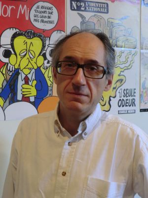 Gérard Biard, redactor jefe del semanario francés 'Charlie Hebdo'.