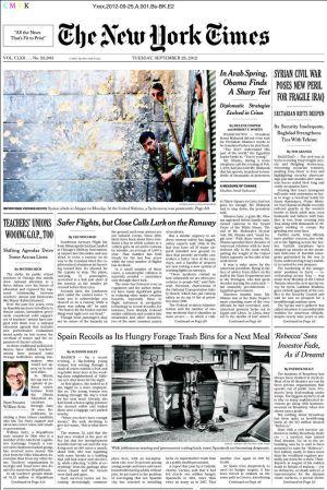 El hambre en España, según 'The New York Times'