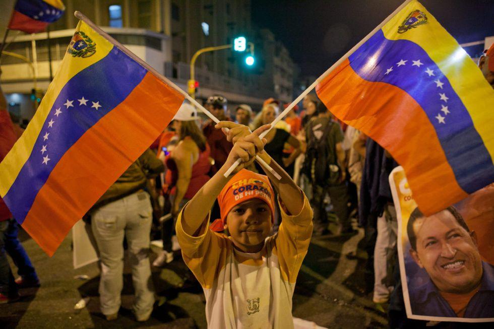 Seguidores de Chávez en Caracas.