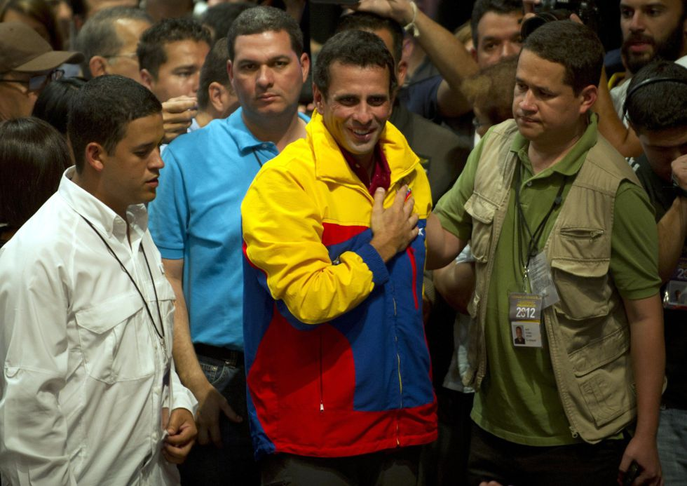 Capriles, tras reconocer su derrota.