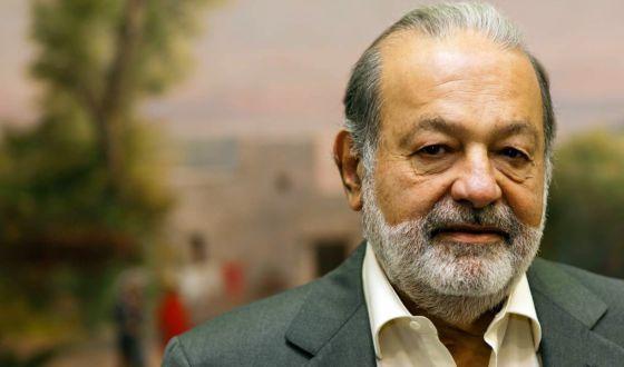 Carlos Slim, durante la entrevista.