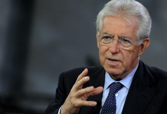 Mario Monti durante una entrevista en Bloomberg TV, en Nueva York.