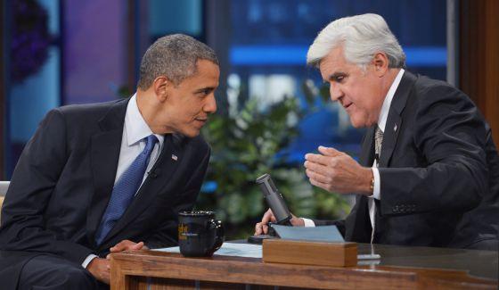 Un momento de la entrevista entre Barack Obama y Jay Leno.