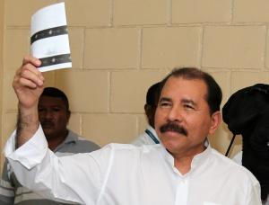 El presidente nicaragüense Daniel Ortega ha votado en Managua.