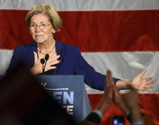 Elizabeth Warren, la gran dama de la izquierda norteamericana.