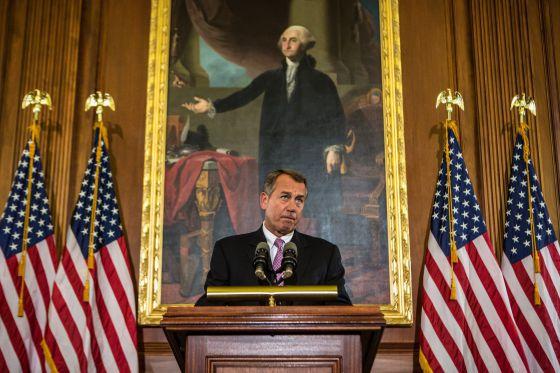 John Boehner, al pronunciar su discurso.