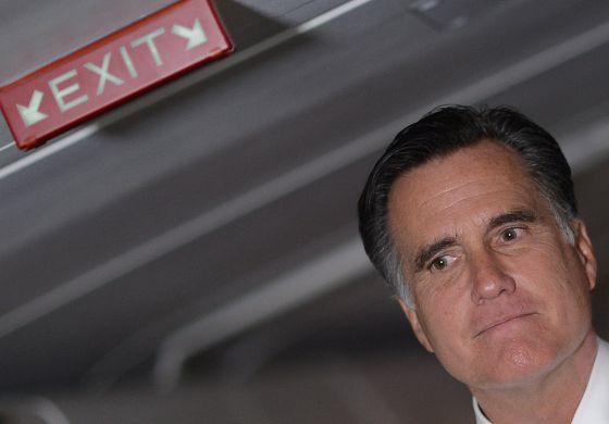 Mitt Romney, en la jornada electoral, antes de saber de su derrota.