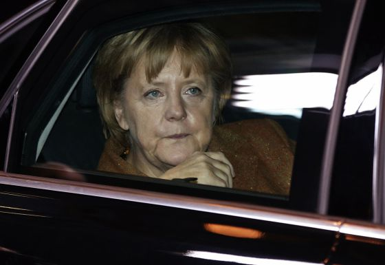Angela Merkel, a su llegada a la cumbre.