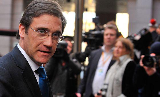 El primer ministro portugués, Pedro Passos Coelho, llega a la reunión de la UE en Bruselas el pasado 22 de noviembre.