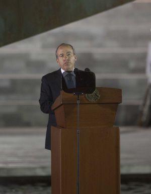Calderón el pasado 20 de noviembre en Ciudad de México.