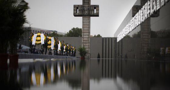 Ceremonia en recuerdo del 75º aniversario de la masacre de Nanjing (China), el pasado día 13.