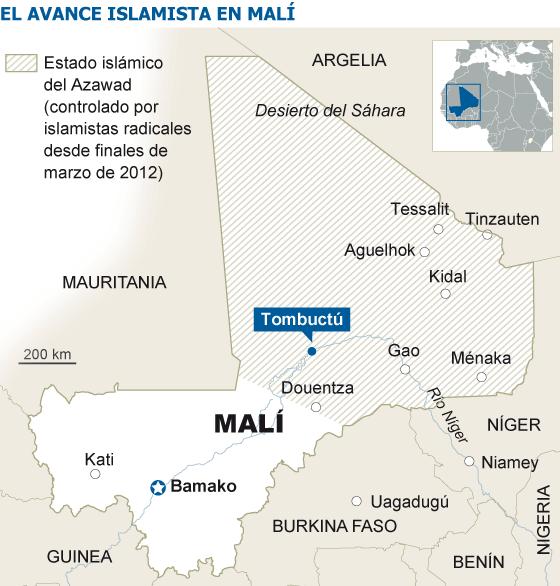 Los islamistas de Malí prometen destruir el patrimonio de Tombuctú