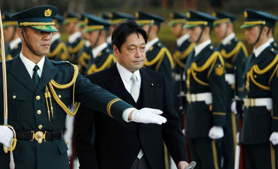 El ministro de Defensa japons, Itsunori Onodera, en su toma de posesin. / KOJI SASAHARA (AFP)