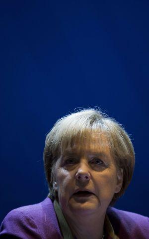 Angela Merkel en la Cancillería, en Berlín.