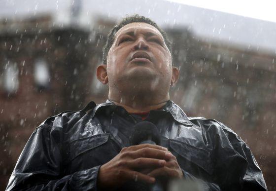 El presidente de Venezuela, Hugo Chávez, durante un mitin celebrado el pasado 4 de octubre en Caracas.