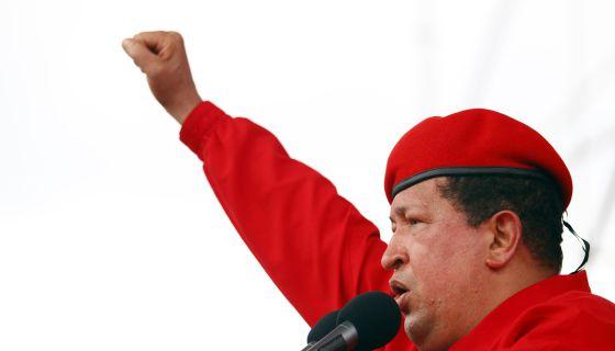 Hugo Chávez, durante un mitin de campaña electoral en Maracaibo, el pasado mes de julio.