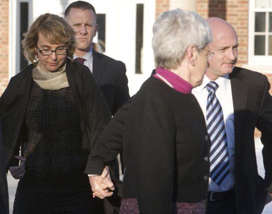 La congresista Giffords, al visitar Connecticut, la semana pasada.