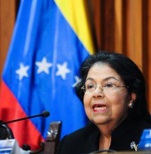 La presidenta del Supremo, Luisa Estella Morales, anuncia su decisión.