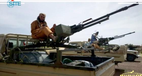 Imagen distribuida por internet de combatientes en el norte de Malí.