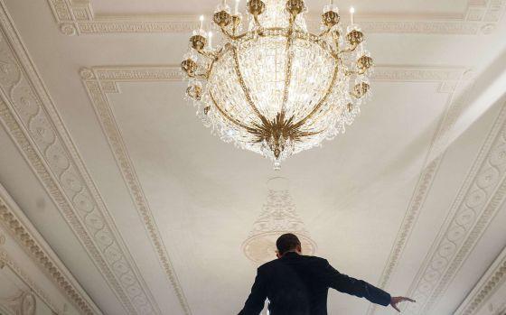 El presidente Obama durante su conferencia de prensa este lunes en la Casa Blanca.