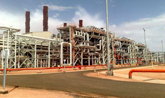 Imagen de la planta petrolífera de BP en In Amenas.