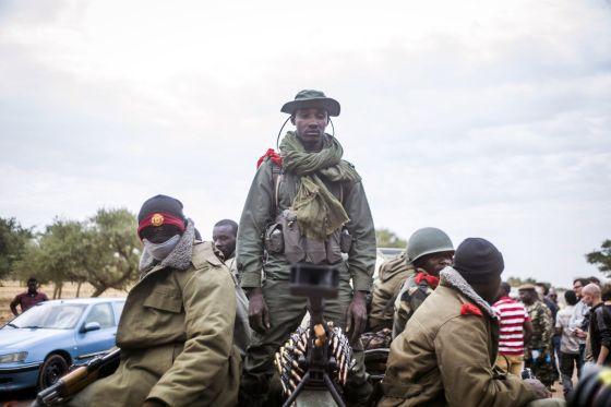 Un soldado maliense en Sevare.