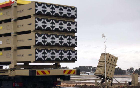Fotografía del 'Iron Dome', un sistema de defensa con misiles de corto alcance instalado por Israel ante la posibilidad de recibir ataques con armas químicas sirias.