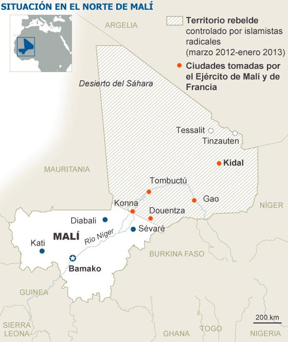 El Ejército francés se detiene ante Kidal, el feudo de la minoría tuareg de Malí