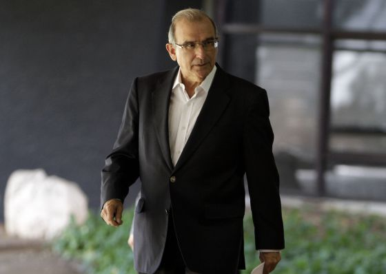 Humberto de la Calle, jefe del equipo negociador del Gobierno colombiano, este miércoles en La Habana