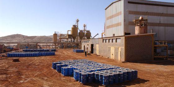 Mina de uranio de la empresa francesa Areva en Arlit (Níger).