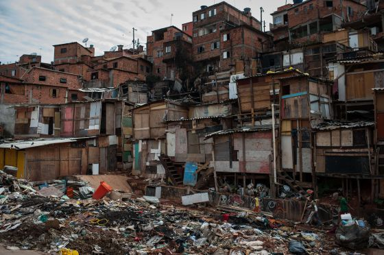 Barrio de favelas de Paraisópolis, donde ardieron 30 chabolas tras un fuego intencionado en noviembre pasado.