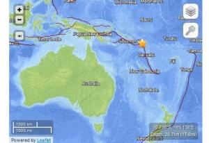 Localización del terremoto.
