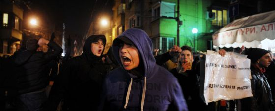Manifestación en contra de la subida de la electricidad en Sofía el pasado miércoles.