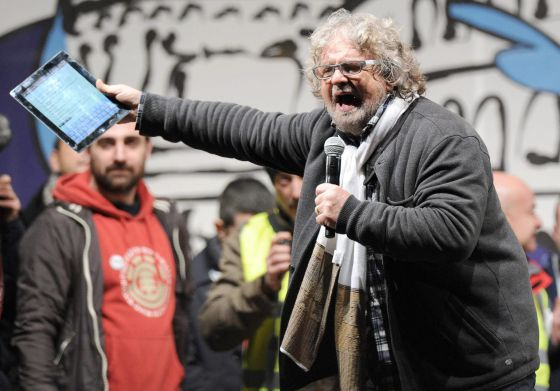 El líder del Movimiento 5 Estrellas, Beppe Grillo.