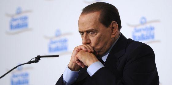 Berlusconi, con gesto serio, el pasado 28 de febrero.
