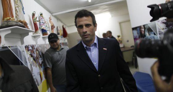Henrique Capriles este viernes en Caracas