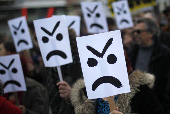 Las protestas contra la austeridad recorren la UE.