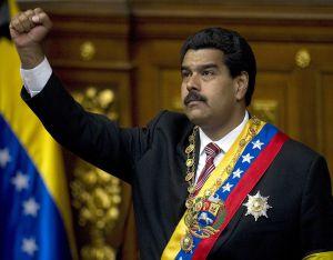 Nicolás Maduro, tras jurar como presidente interino de Venezuela el viernes.