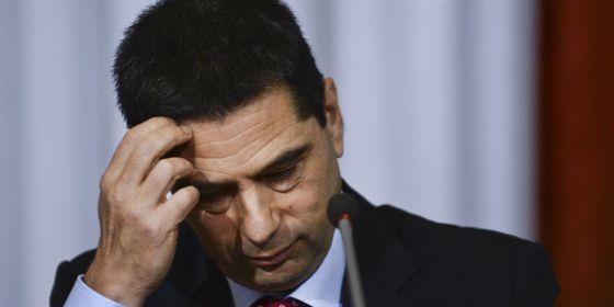 El ministro de Finanzas portugués, Vítor Gaspar, presenta las conclusiones del informe de la troika, hoy.